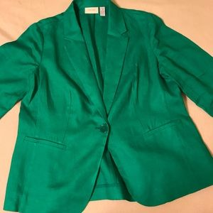 Chico's green linen jacket